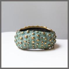 Bracelet 'Oursin' - Bronze doré - Pièce unique