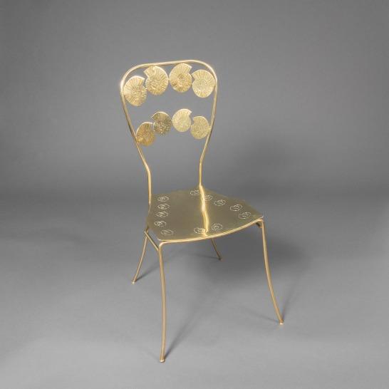 Claude de Muzac - Chaise en bronze et laiton