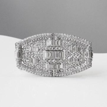Broche en platine et diamants - vers 1930