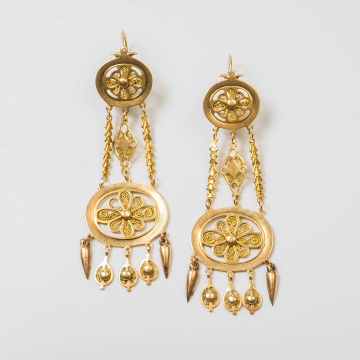 Pendants d'oreilles en or - XVIIIe siècle