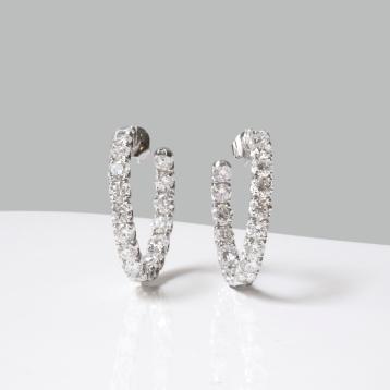 Graff - Boucles d'oreilles, or et diamants