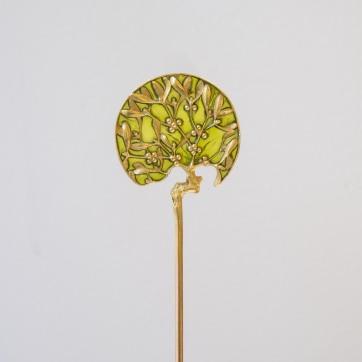 Lalique - Epingle en or et émail plique-à-jour - vers 1890