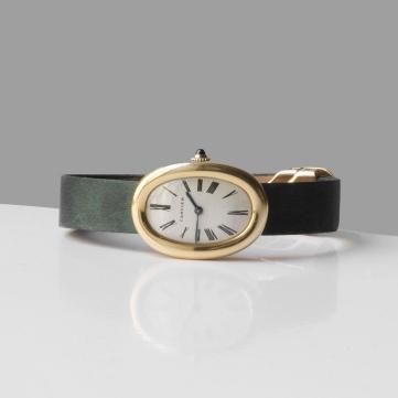 """Cartier - Montre """"Baignoire"""" en or - vers 1960"""