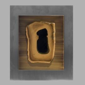 Claude de Muzac - Composition en inox et pierre dure