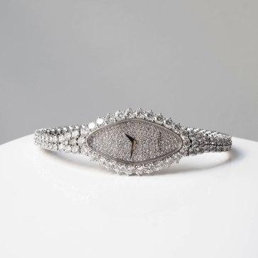 Vacheron-Constantin - Montre en or gris et diamants
